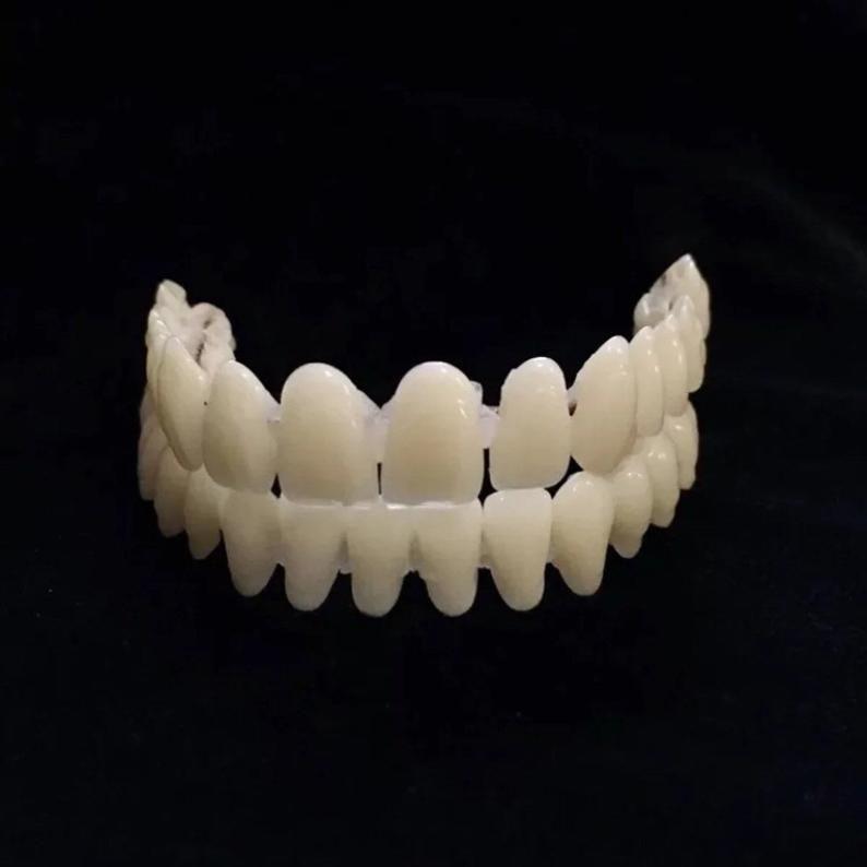 Acrylic resin teeth upper teeth lower teeth diy placed