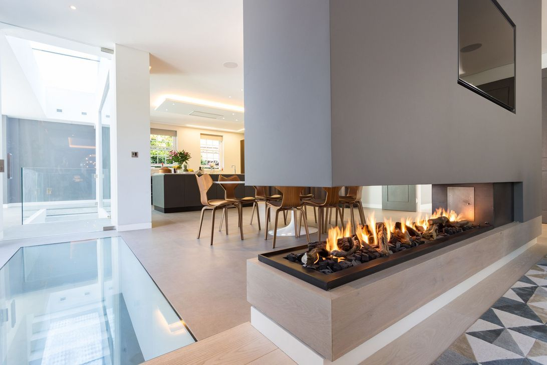 31 Gorgeous Double Sided Fireplace Ideas For Your Living Room