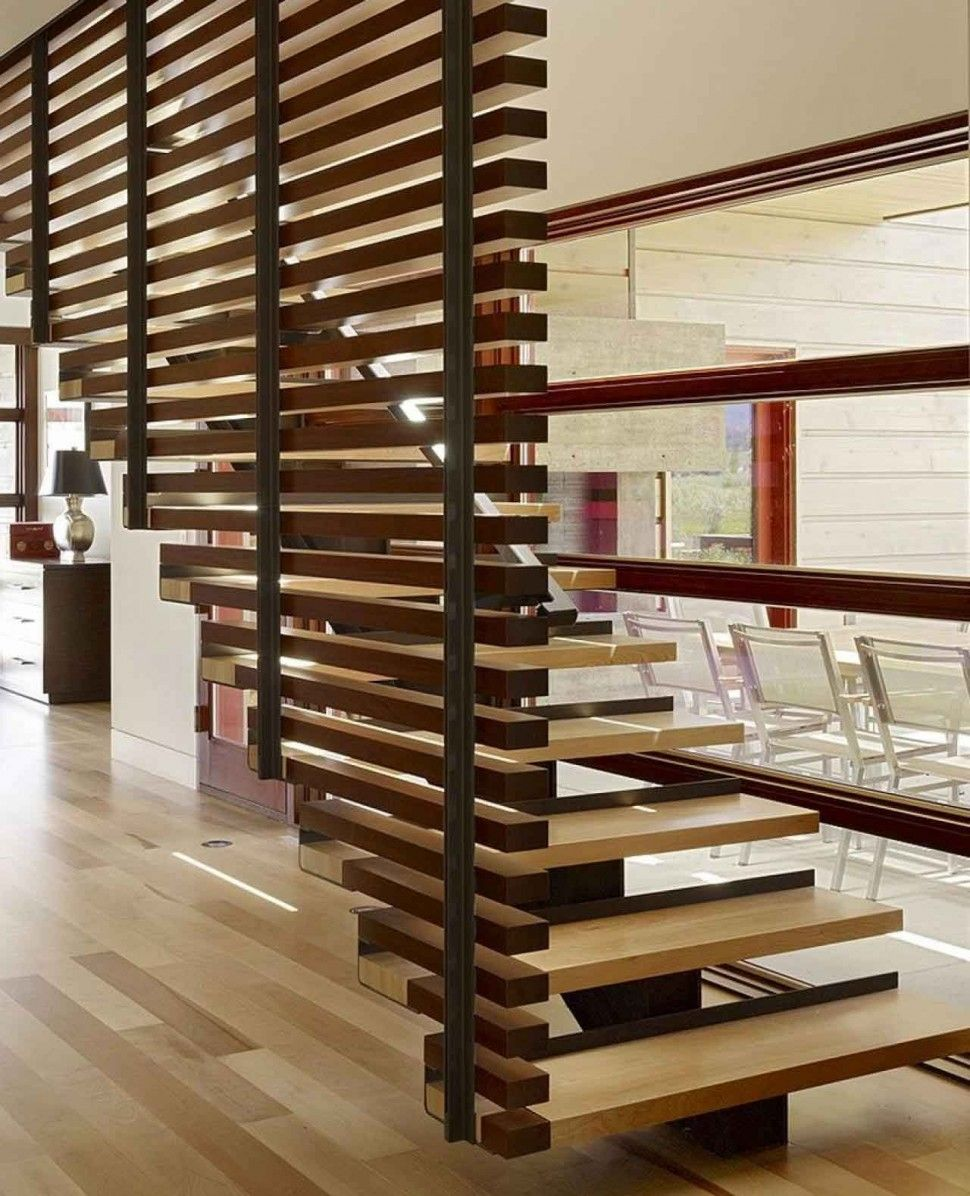 Home Interior Wood Stairs Design For Terraces Home Simple