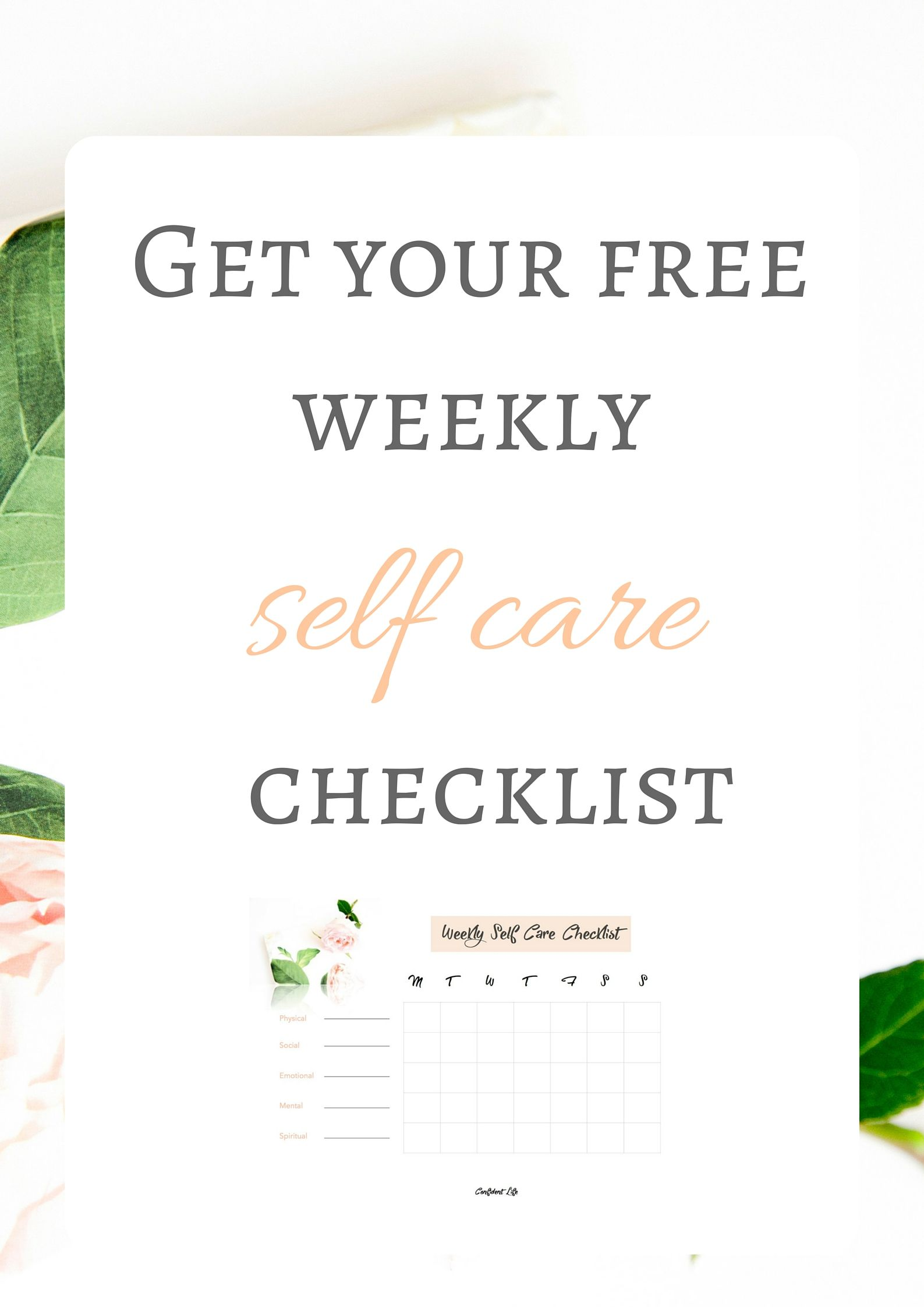 Need A Little Reminder To Do Your Self Care Activities Each Week Download Your Free Weekly Self