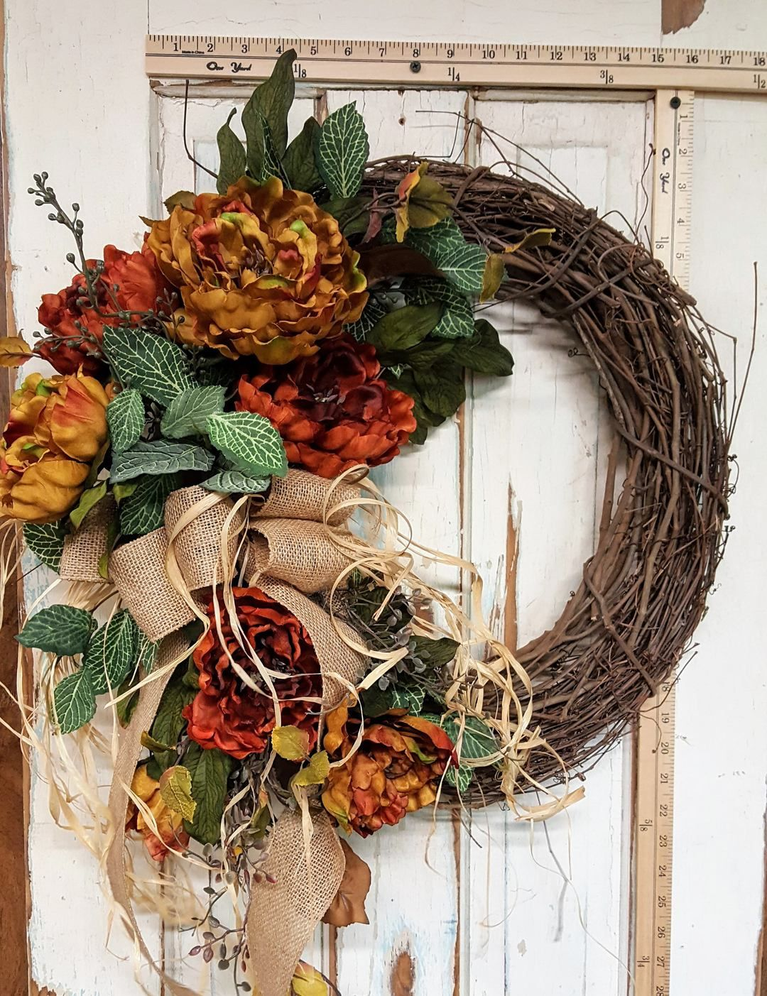 Rust Peony Front Door Wreath Awesome Autumn Wreaths Door