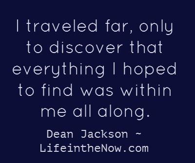 The Traveler ~ LifeintheNow.com mini-posts