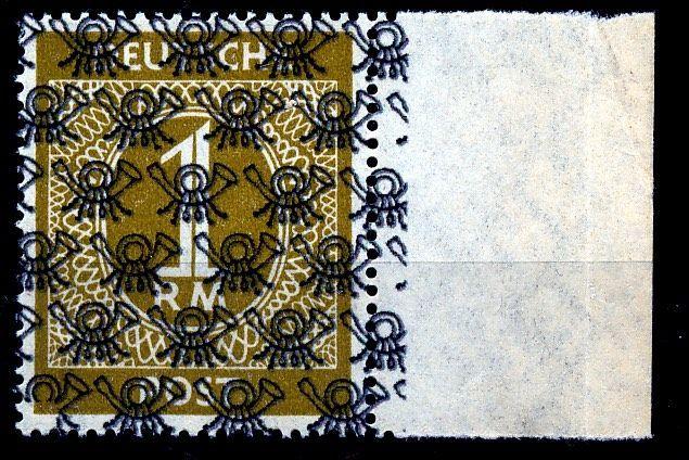 Geallieerde bezetting (Amerikaanse en Britse zone) - 1948-1 Mark met raster overdrukken Michel AIX/II  EUR 1.00  Meer informatie