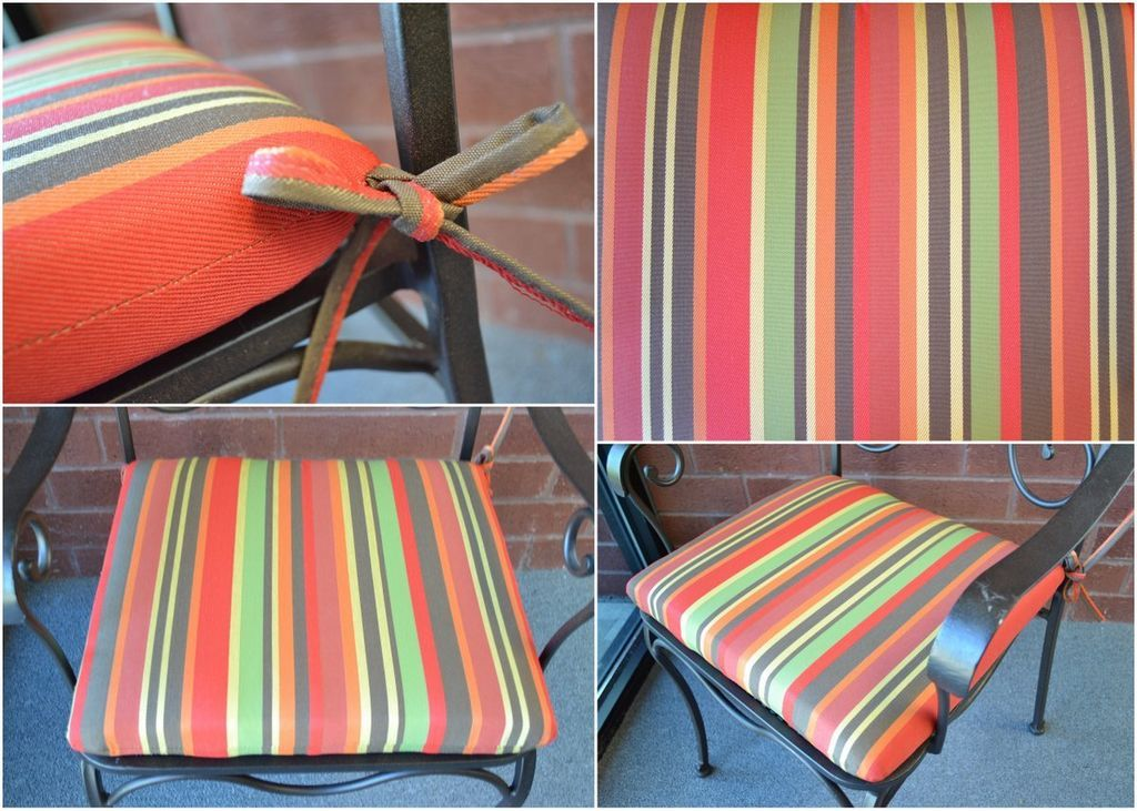 19 Outdoor Patio Dining Chair Seat Cushion Red Stripe With Images