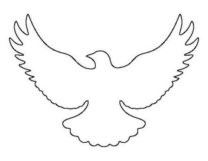 Трафарет голубь мира из бумаги шаблоны для вырезания