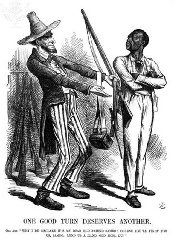 Lincoln Cartoon 1862 An 1862 English Cartoon Comment On