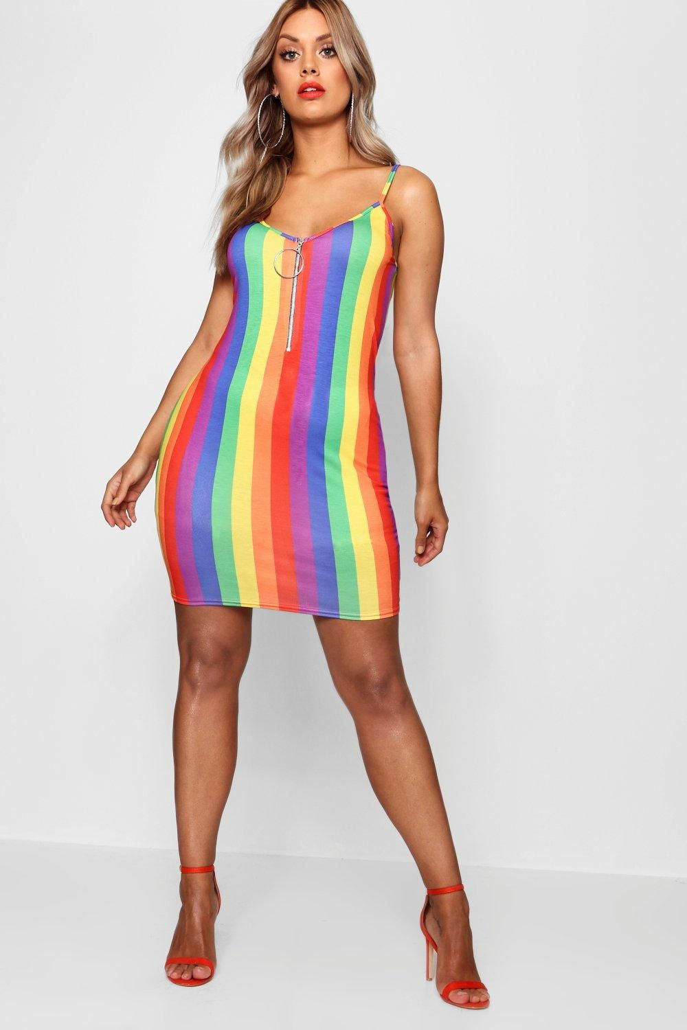 Click Here To Find Out About The Plus Rainbow O Ring Bodycon Dress From Boohoo Part Of Our Latest Dr Party Dress Classy Rainbow Outfit Online Shopping Clothes [ 1500 x 1000 Pixel ]