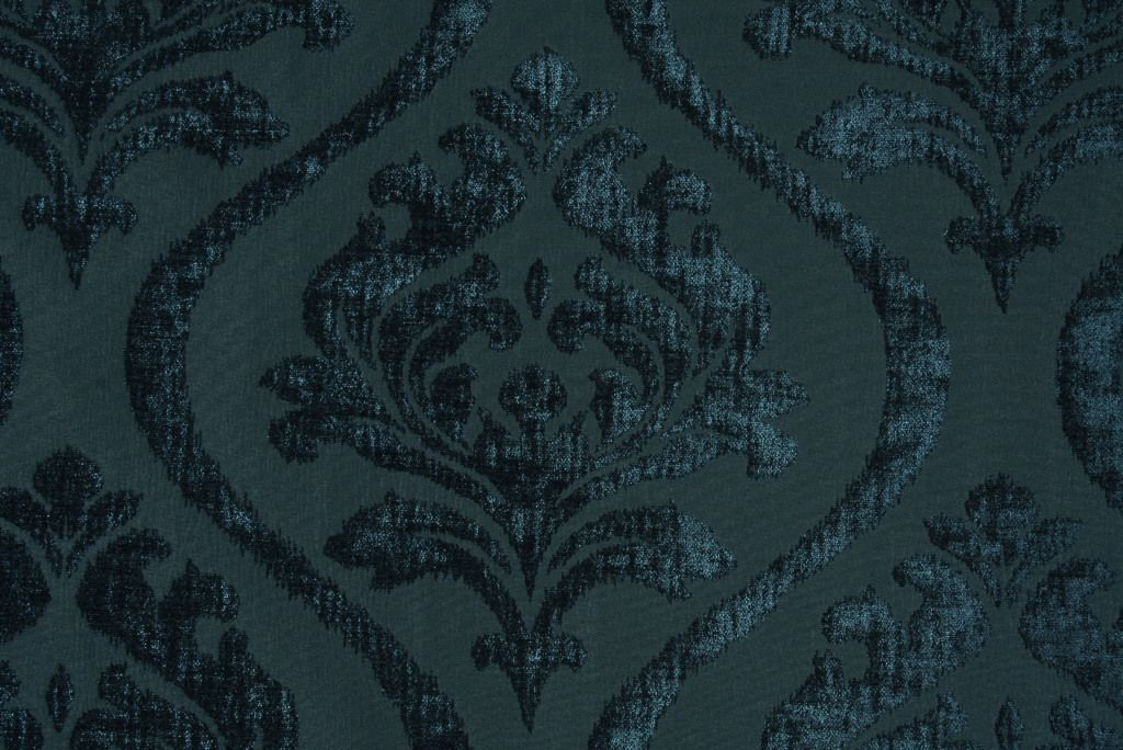 M9220 5646 In Peacock Chenille Damask Upholstery Fabric Damask