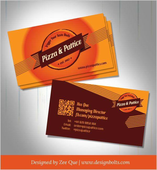 Free vector pizza pattice business card design template el mundo free vector pizza pattice business card design template accmission Gallery