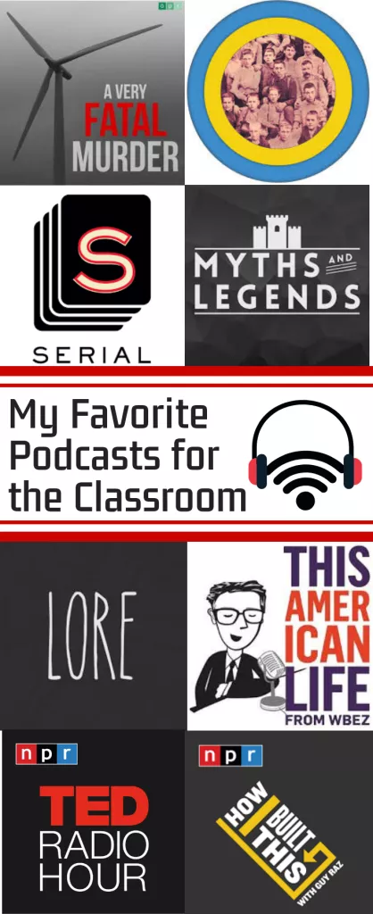 My Favorite Podcasts for the Classroom is part of Effective teaching, High school literature, Teaching, High school classroom, Social studies middle school, English teacher high school - Want to try podcasts in the classroom  I can help! This post lists out my favorite podcasts along with what standards and texts to pair them with  Many teachers prefer seasonal activities so I'm going to break this up by month  However, any of these can be used at any time throughout the year  UPDATE!