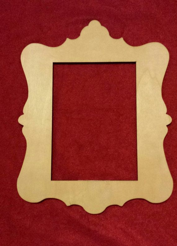 Wooden Laser Cut Frame Vintage Frame by LeCoquetterieShop, $3.99 ...