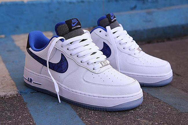 Cheap Men's Nike Air Force One Low Blue White Sale Outlet