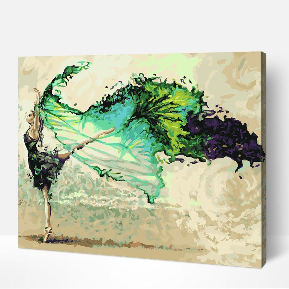 Green Ballerina Paint By Number Kits Painting Oil Painting On