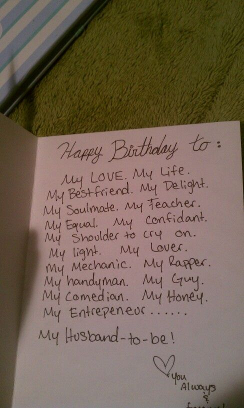 A Literal Letter to Jesse Happy Birthday – Things to Write in Girlfriends Birthday Card