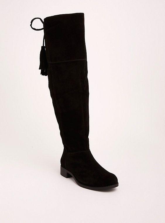 24b6892422ea Genuine Suede Tassel Over-the-Knee Boots (Wide Width   Wide Calf ...