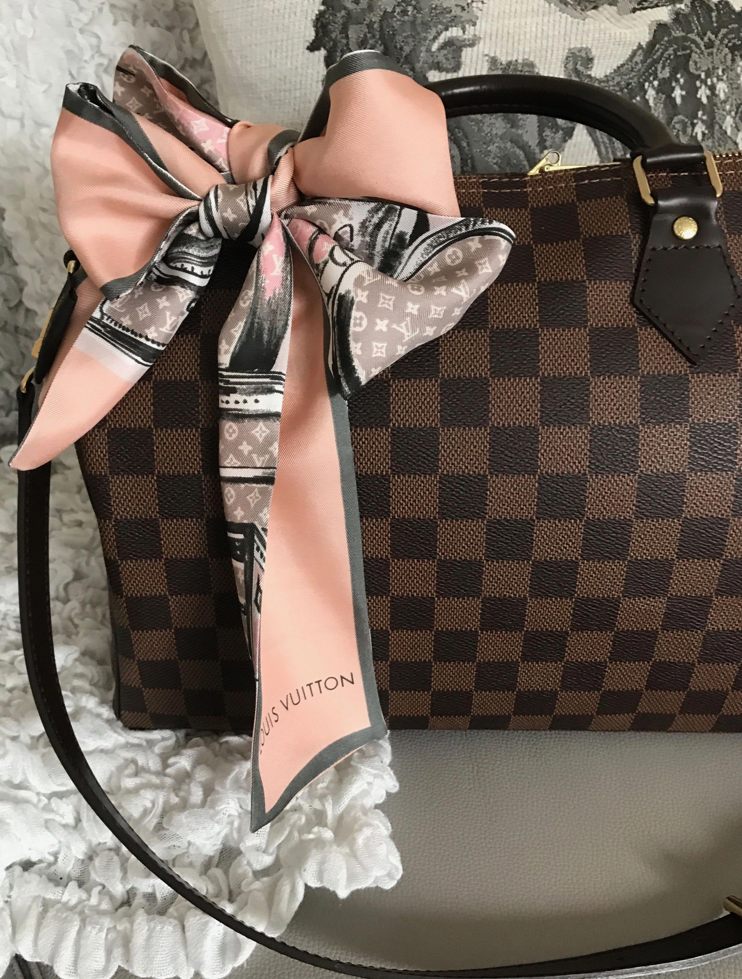 fea254bd9bb2 Louis Vuitton speedy B 30 Damier ebene with lv bandeau  Louisvuittonhandbags
