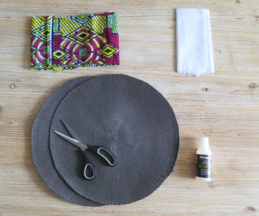 diy le panier set de table sac pinterest panier rond. Black Bedroom Furniture Sets. Home Design Ideas