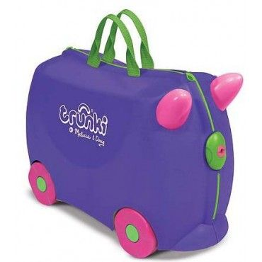 Trunki Iris Purple Rolling Kids Luggage Taking a trip with Trunki ...