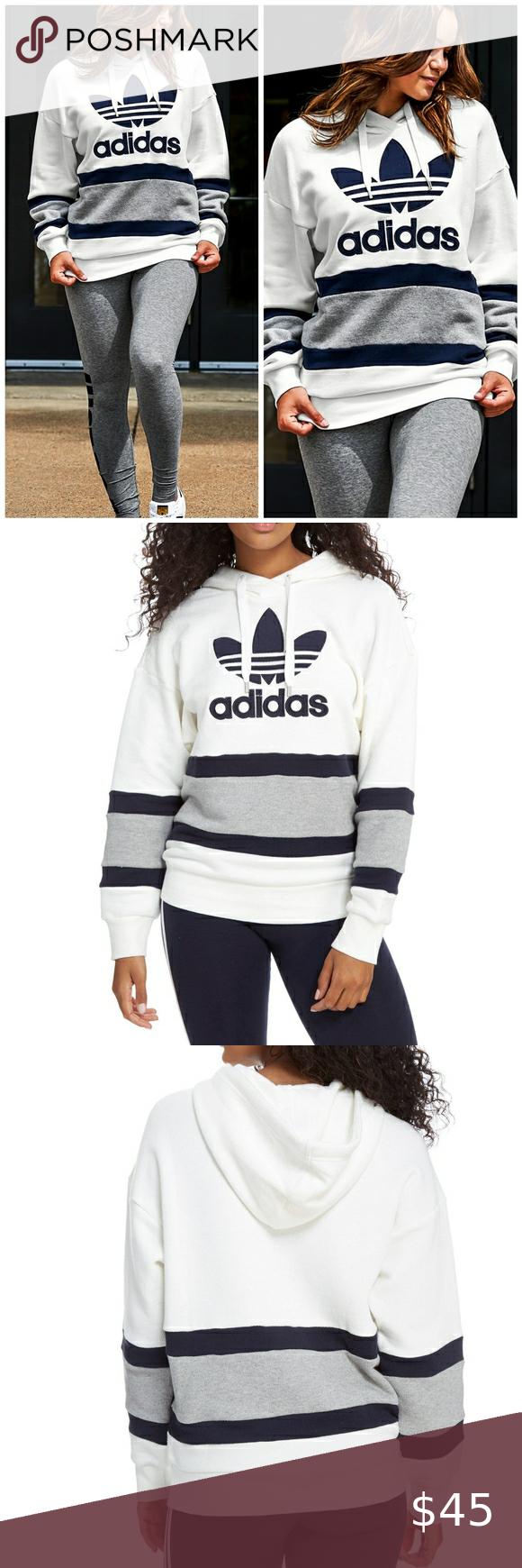 Adidas Originals Colorblock Hoodie Sweatshirt Xl In 2020 Sweatshirts Hoodie Sweatshirts Drawstring Hoodie [ 1740 x 580 Pixel ]