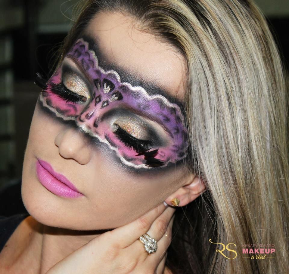artistic makeup - carnival mask | halloween make up | Pinterest ...