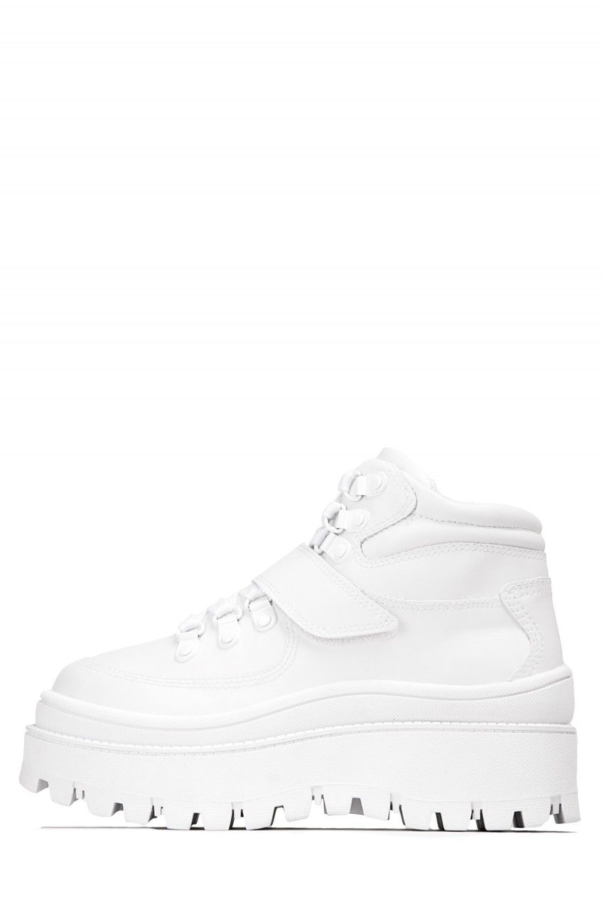 6a28ee865cb Jeffrey Campbell Shoes TOP-PEAK Platforms in White