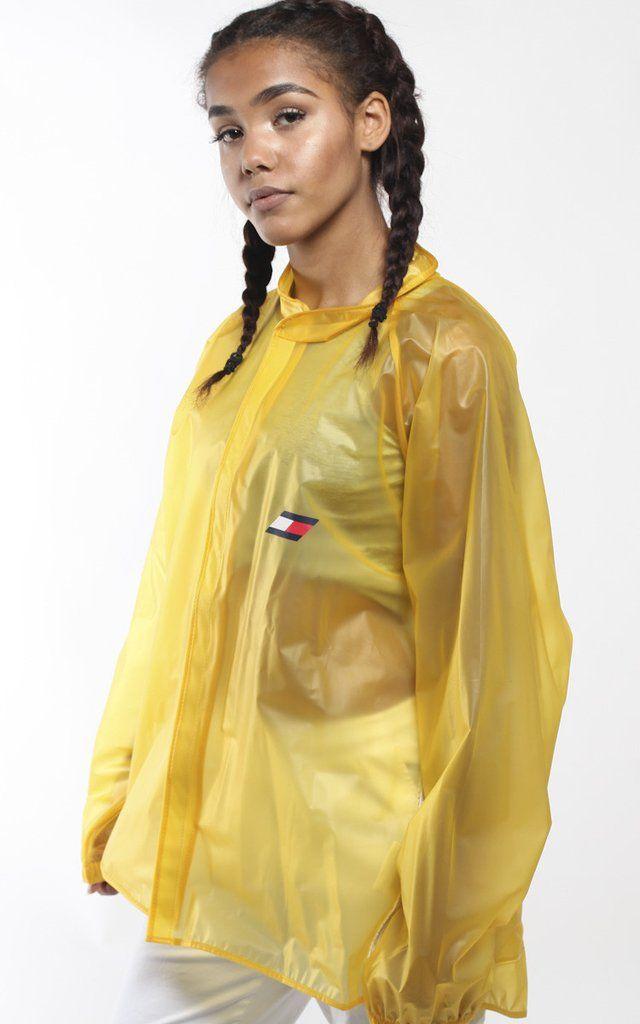 Vintage Tommy Hilfiger Clear Jacket Tommy Hilfiger Jackets Yellow Raincoat