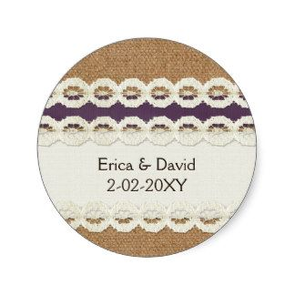 burlap and lace wedding favors - Google Search