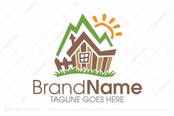 Logo For Sale: Mountain Cabin Logo