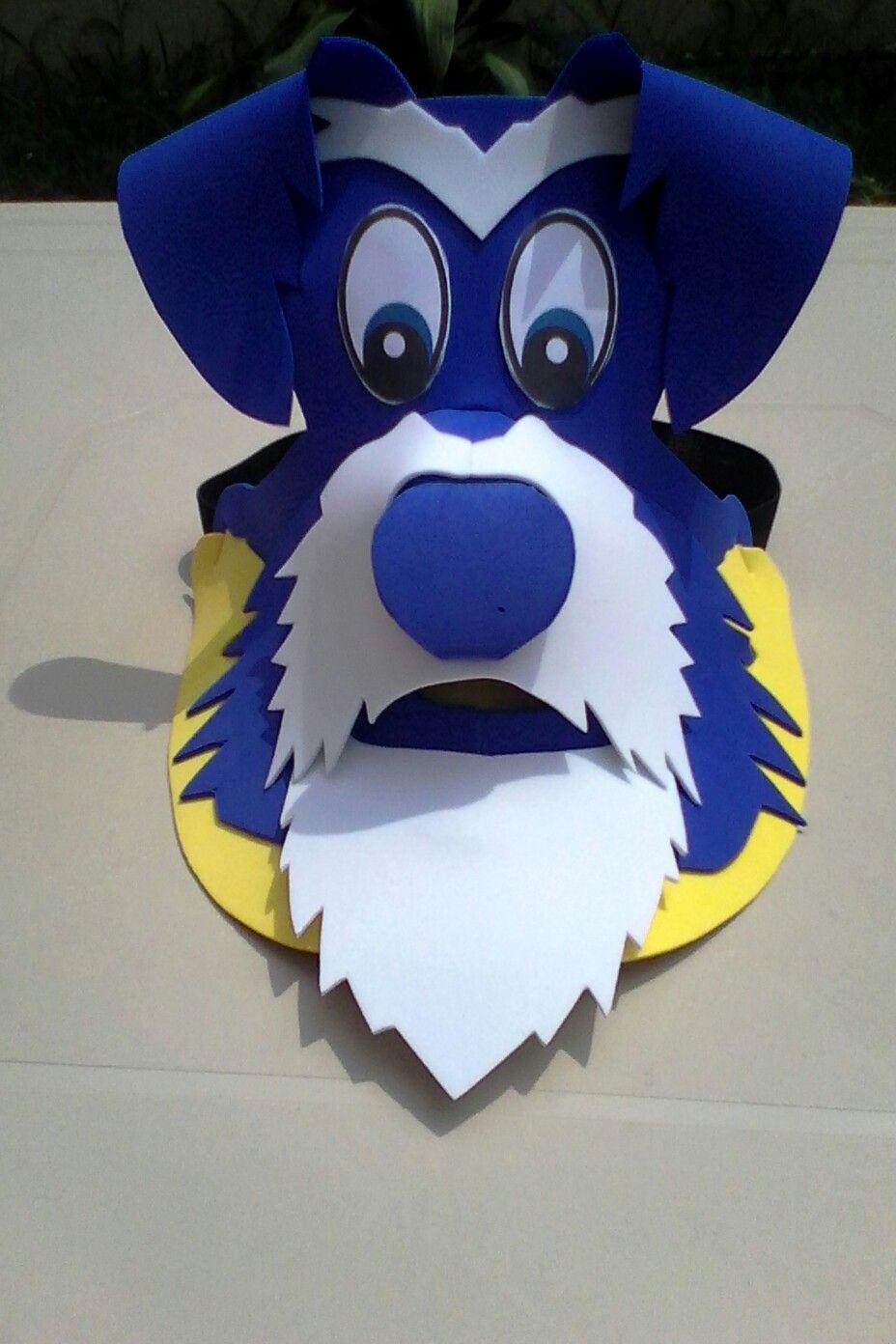 Visera de perro en foami cel máscaras pinterest