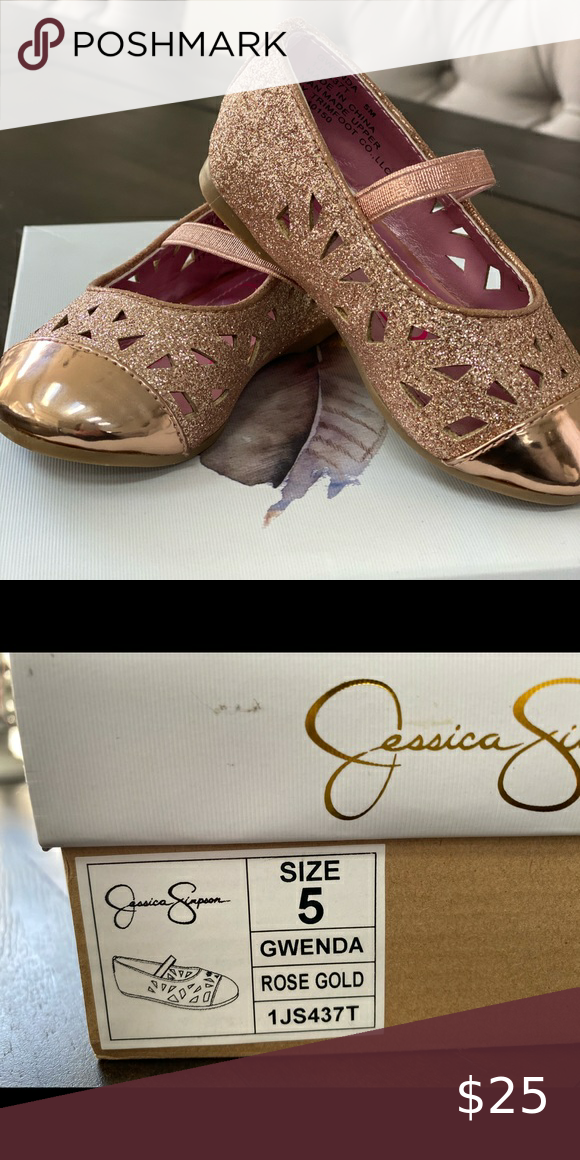 Girls shoes, Jessica simpson, Gold shoes