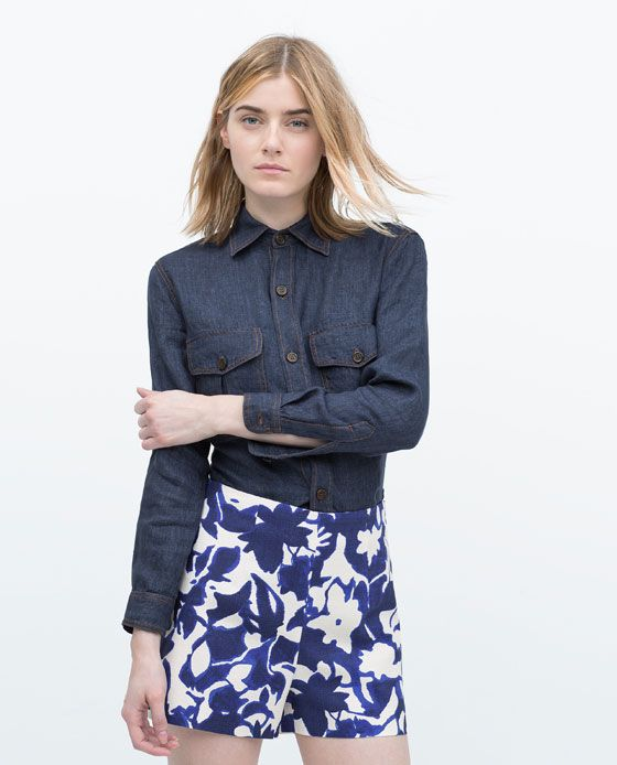 ZARA - WOMAN - PRINTED SHORTS