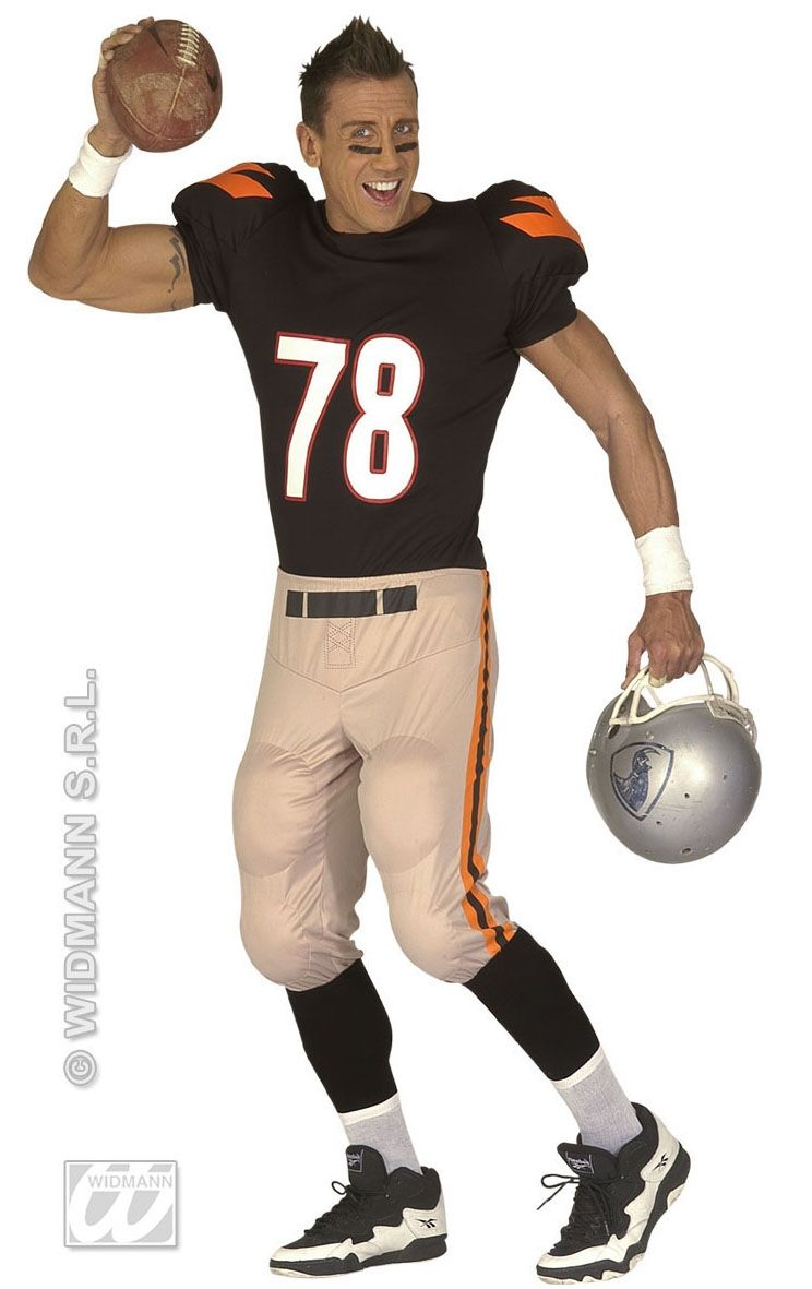 Football Player Costume | CQ-M424 | £39.04 | Fancy Dress Costumes ...