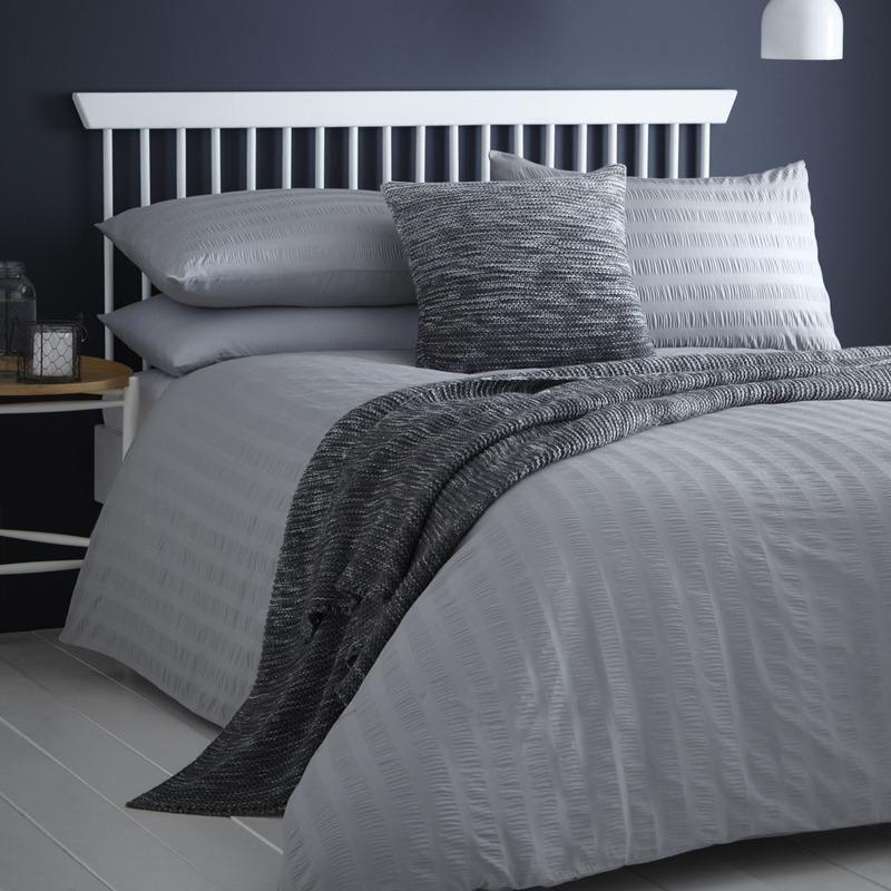 Seersucker Bedding Set Grey Bed Mens Bedding Sets