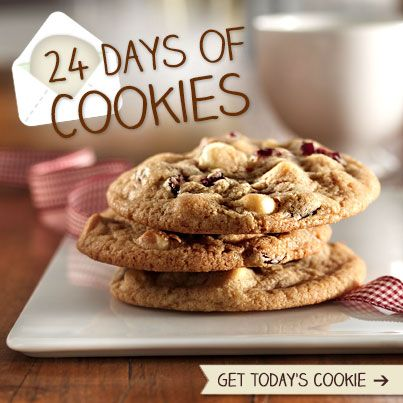 24 Days Of Cookies Cookies White Chocolate Cranberry Cookies