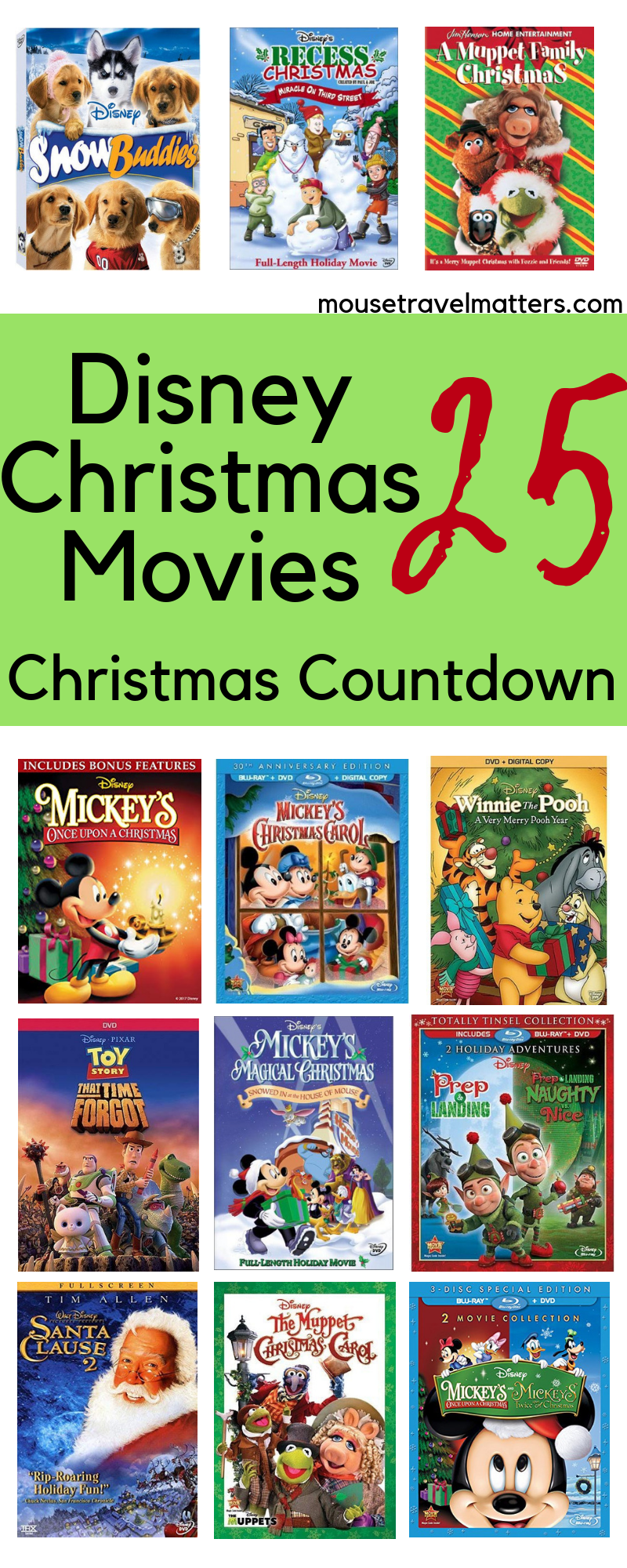 Disney S 25 Best Christmas Movies To Countdown The Holidays Mouse Travel Matters Disney Christmas Movies Disney Christmas Best Christmas Movies