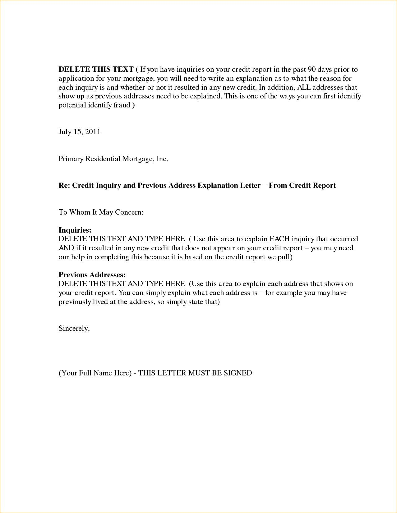 You Can See This New Request Explanation Letter format At