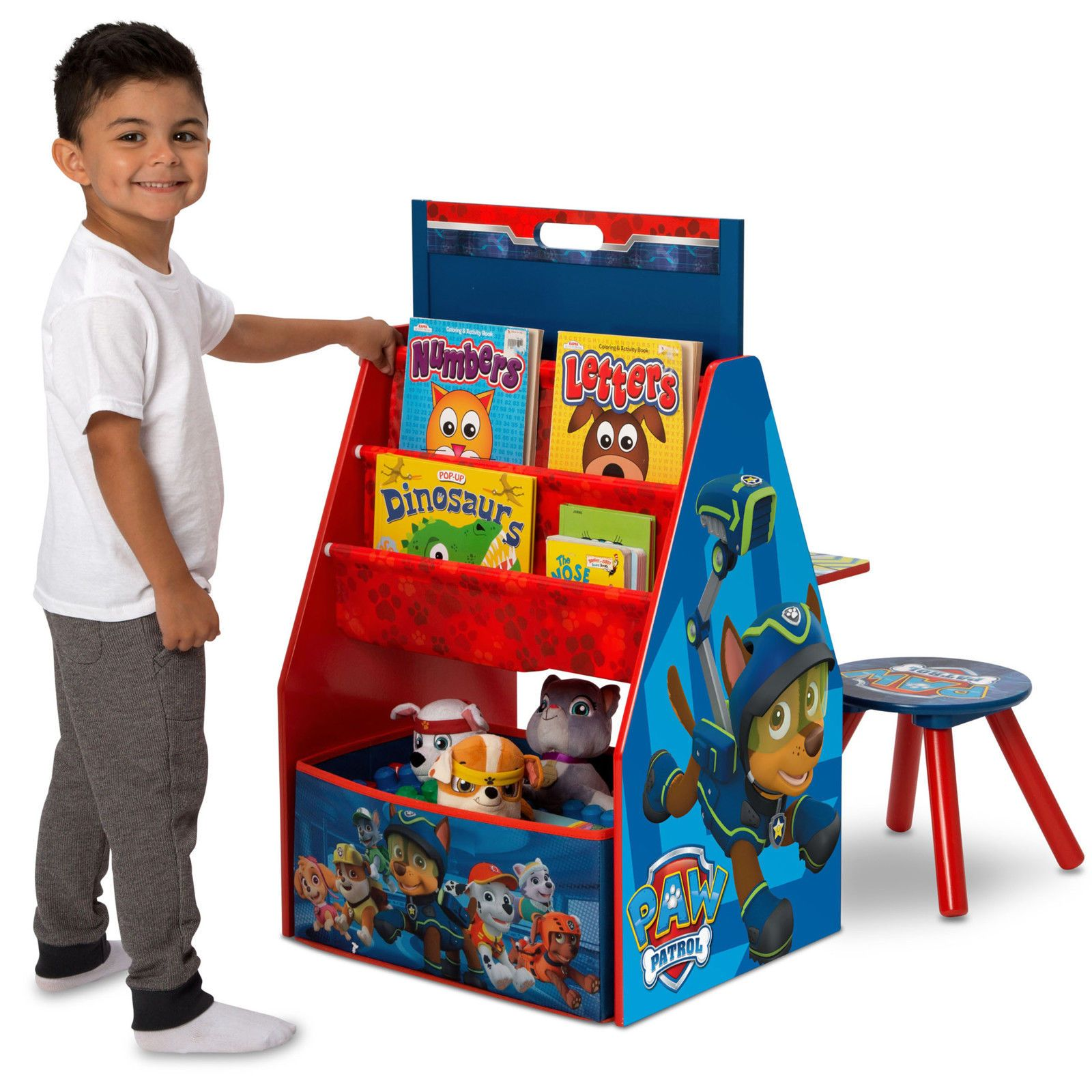 Paw Patrol Toy Organizer Bin Cubby Kids Child Storage Box: Paw Patrol Activity Center Easel Desk Toy Organizer Stool
