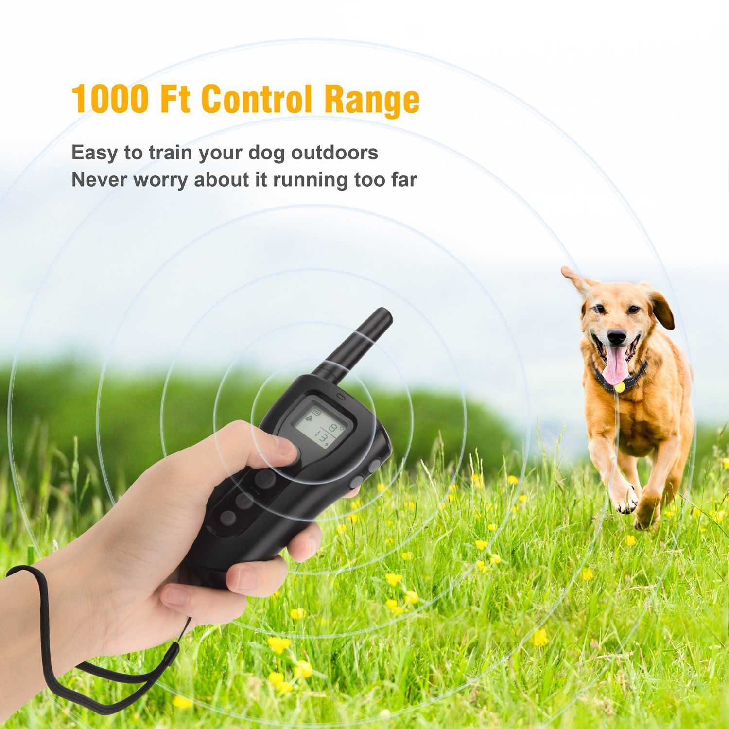 Bousnic Dog Training Collar 2018 Upgraded 1000ft Remote