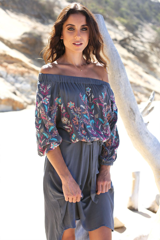 dc5475f0527 Mandala Dress in Grey – Adrift Clothing