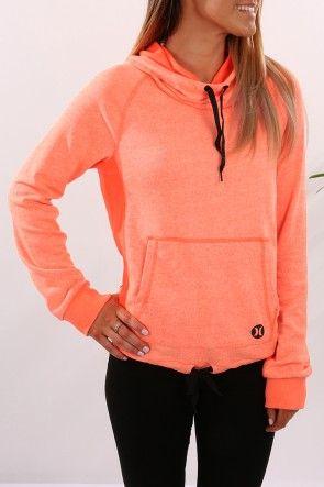 Hurley Dri-Fit Funnel Fleece $79.99 Shop Via ll http://www.jeanjail.com.au/ladies/hurley-dri-fit-funnel-fleece-heather-hyper-orange.html