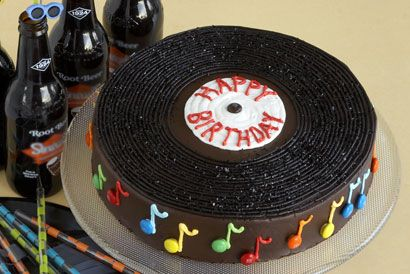 Love this!                                                                                Record cake!