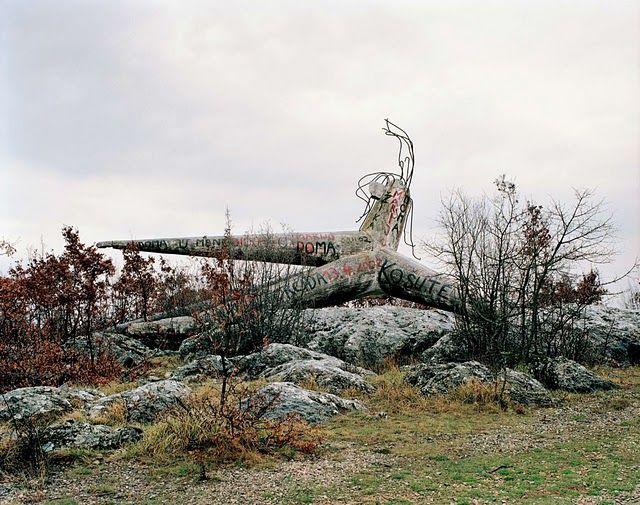Memorial in the former Yugoslavia.