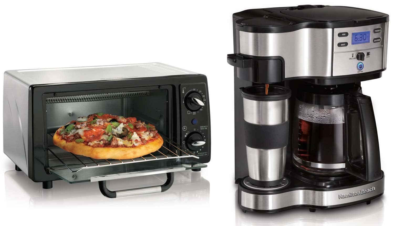 Hamilton beach 4 slice toaster oven and 12 cup digital