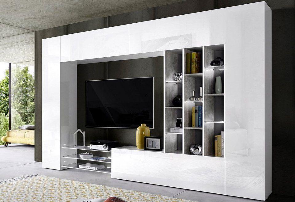 Tecnos Wohnwand Set 5 Tlg 2 Hangeschranke 2 Lowboards Und 1 Wandregal Online Kaufen Otto In 2020 Wohnzimmer Dekor Modern Wohnzimmerschranke Wohnen