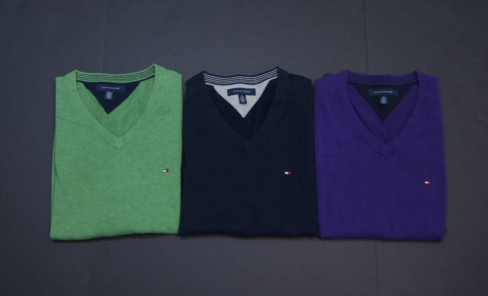 TOMMY HILFIGER Men Cotton V-Neck Sleeveless Vest Sweaters NEW NWT  #TommyHilfiger #Vest