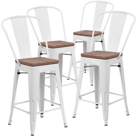 Industrial Scientific White Bar Stools Stools With Backs Metal Bar Stools
