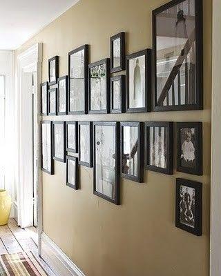 Pendurando fotos da parede