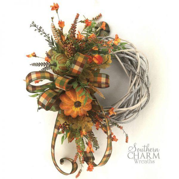 Photo of DIY Farmhouse Wreath for Fall | Southern Charm Wreaths