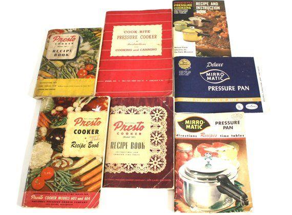 e2543a2d17cb3 Presto, Cook-Rite, Mirro Pressure Cooker Recipe Book / Instruction ...