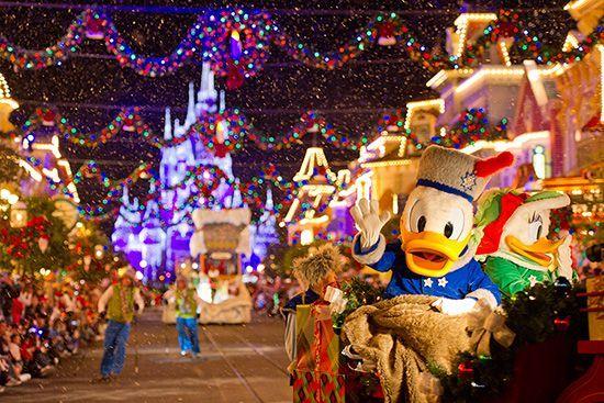Natal nos parques da Disney